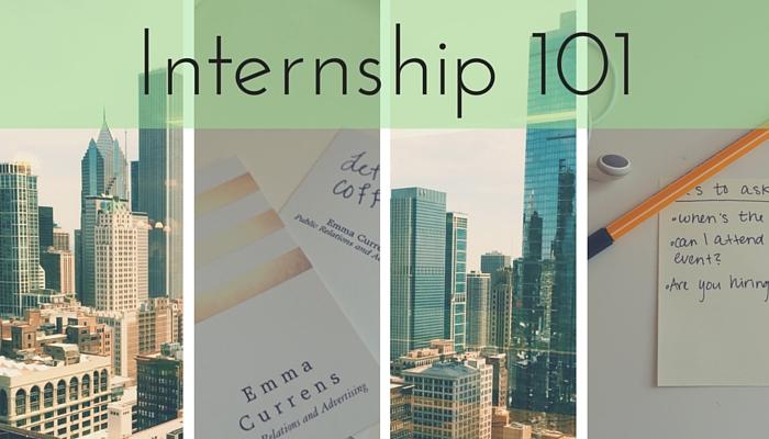 Internship 101